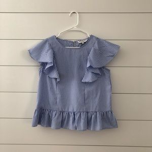 Cutest blue gingham blouse